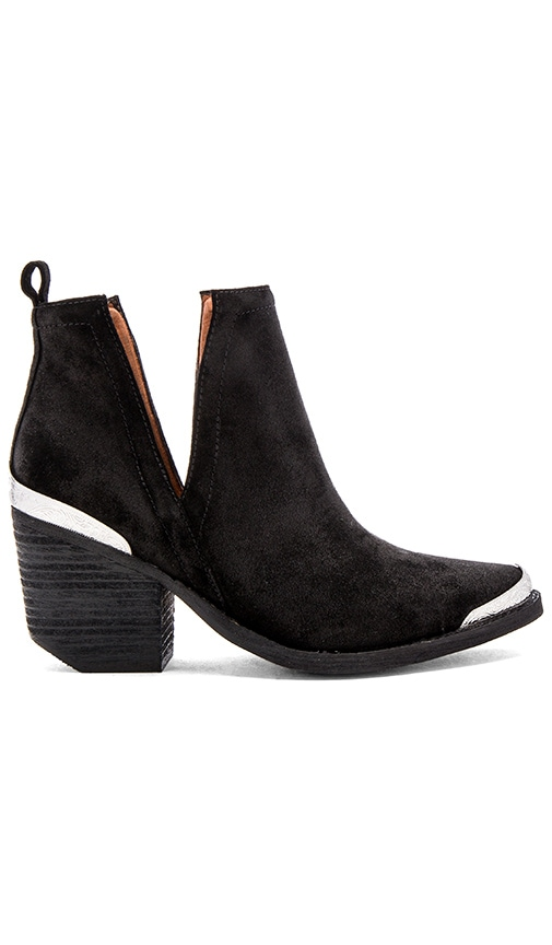 Jeffrey Campbell Cromwell Booties in Black Distressed Suede
