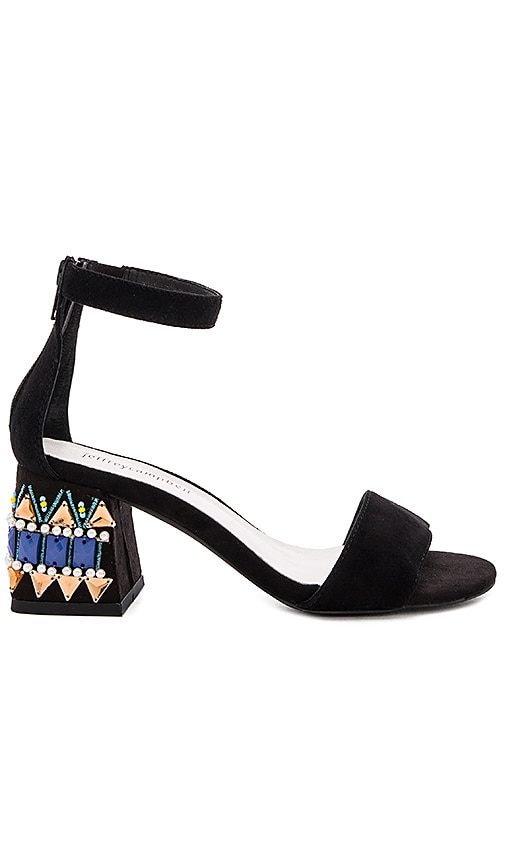 Jeffrey Campbell Fero Jwl Sandals in Black