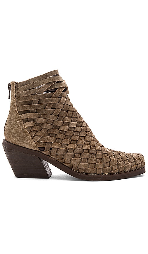 Jeffrey Campbell Surat Booties in Taupe Oiled Suede