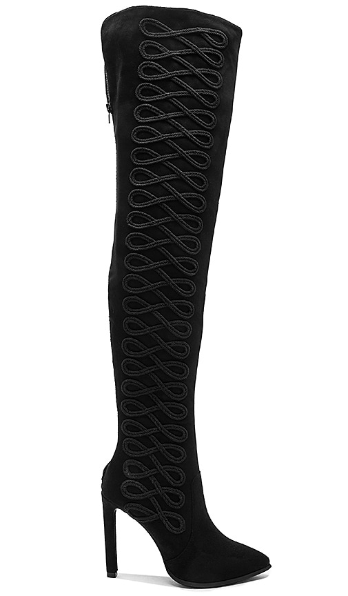 Jeffrey Campbell Sherise Over the Knee Boots in Black