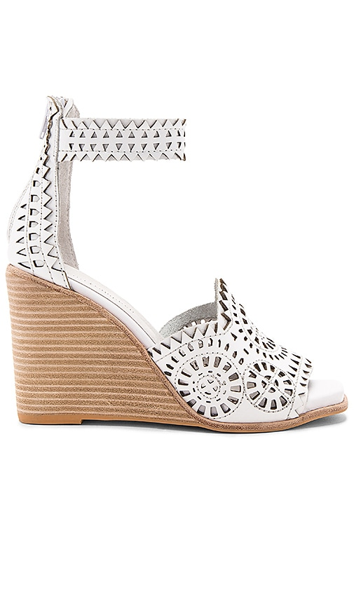 Jeffrey Campbell Del Sol H Wedge in White