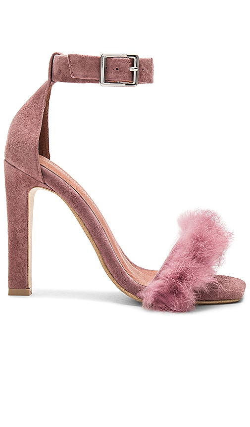 Jeffrey Campbell Obus FT Heels with Rabbit Fur in Mauve