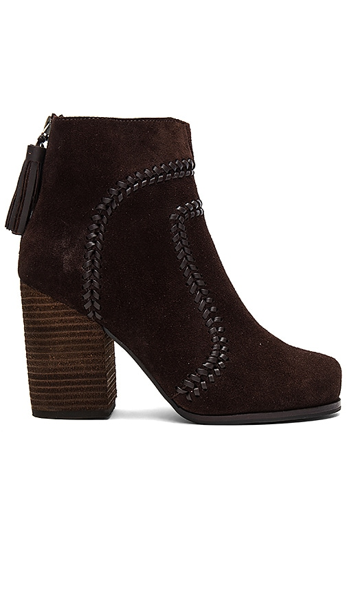 Jeffrey Campbell Tavern Bootie in Chocolate Brown