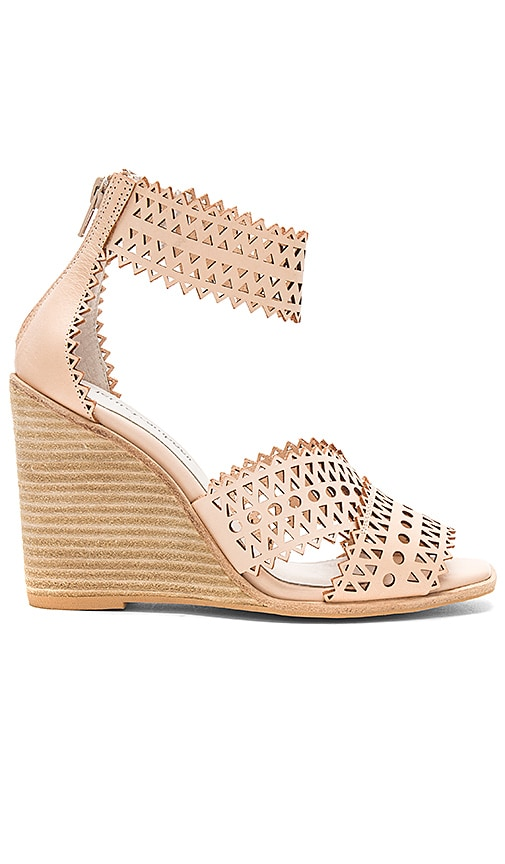 Jeffrey Campbell Besante Wedge in Tan