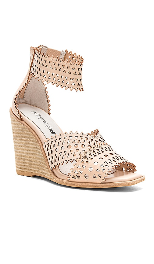 Jeffrey Campbell Besante Wedge in Natural | REVOLVE