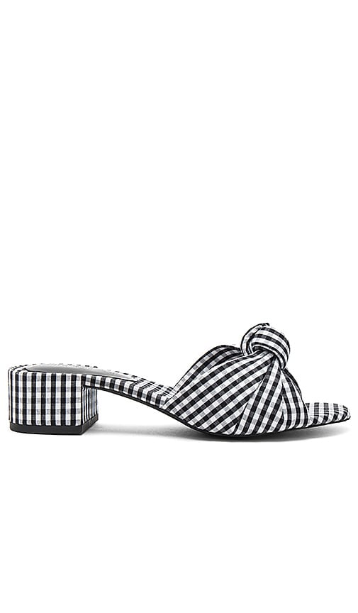 Jeffrey Campbell Beaton Mule in Black & White