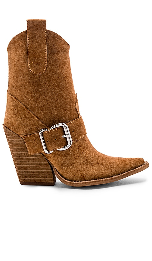 Jeffrey Campbell Homage Boot In Tan Suede Revolve