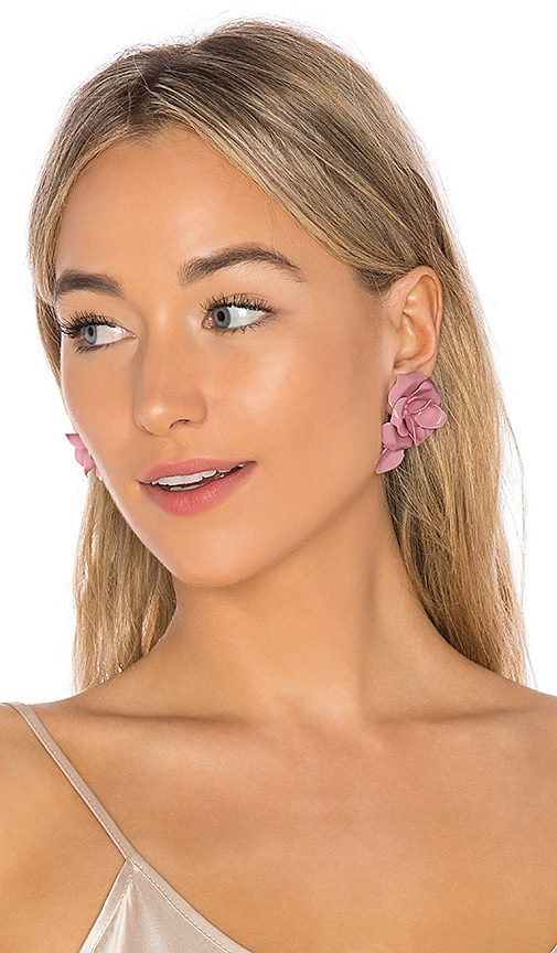 Jennifer Behr Sera Earrings in Pink