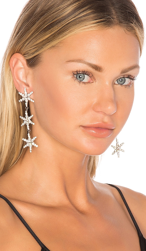 Jennifer Behr Aurora Earrings in Metallic Silver