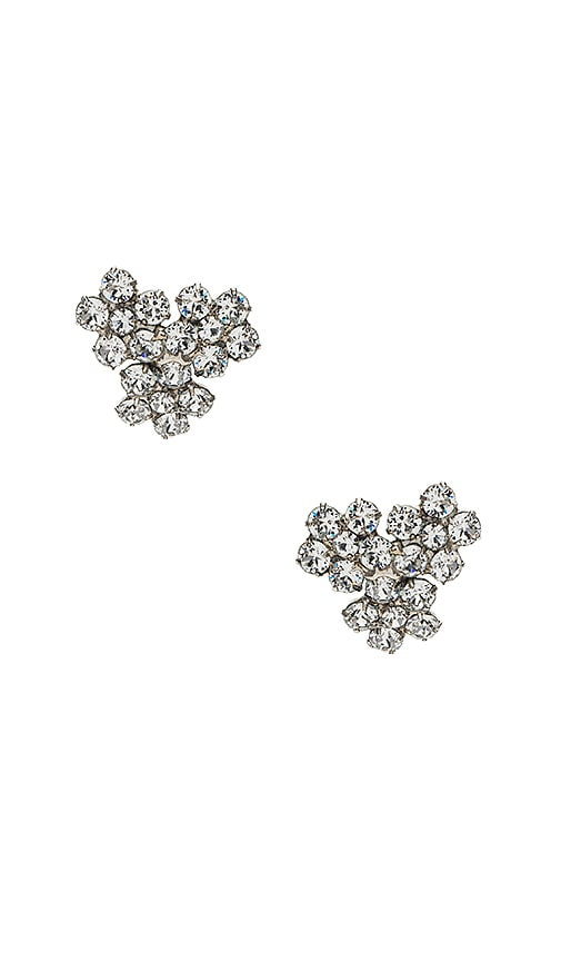 Jennifer Behr Violet Stud Earrings in Metallic Silver