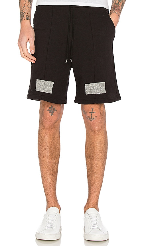 JOHN ELLIOTT Paneled Shorts in Black