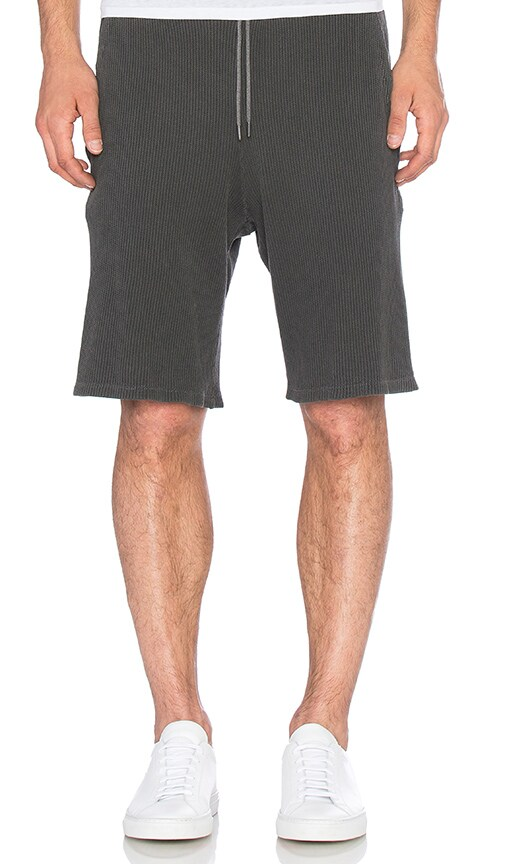 JOHN ELLIOTT Flatback Thermal Shorts in Washed Black