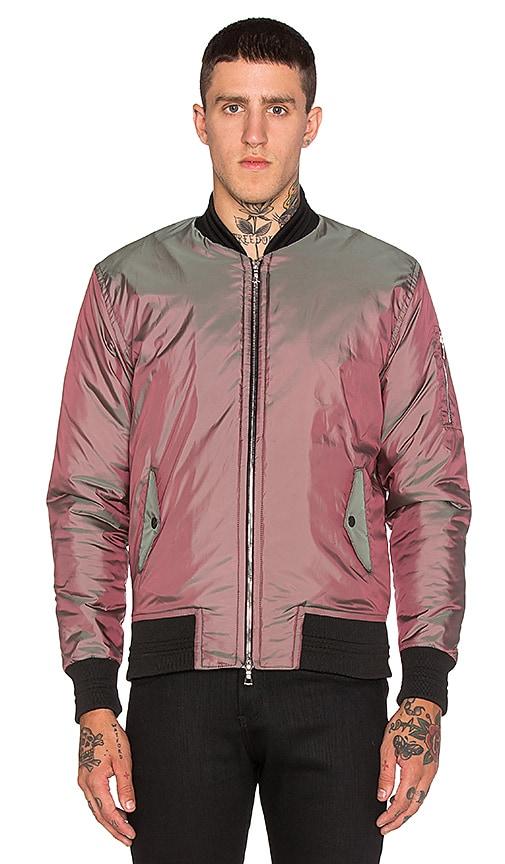 JOHN ELLIOTT Flight Jacket in Iridescent Olive