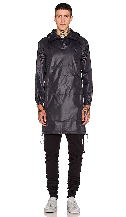 JOHN ELLIOTT Pullover Raincoat in Black