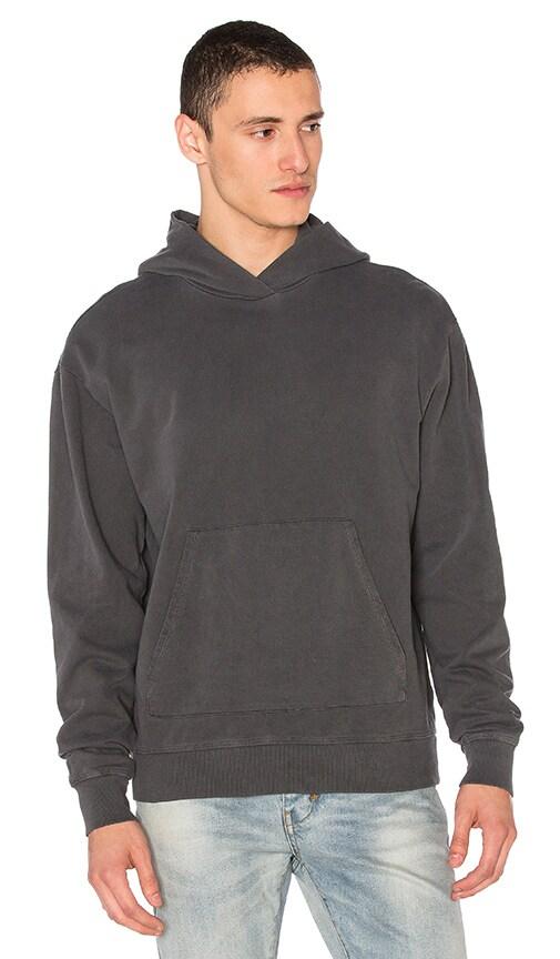 JOHN ELLIOTT Oversized Cropped Hoodie in Washed Black
