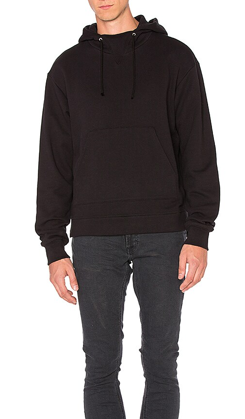 JOHN ELLIOTT Kake Mock Pullover in Black