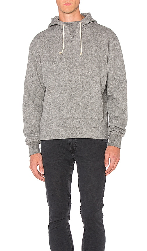 JOHN ELLIOTT Kake Mock Pullover in Grey