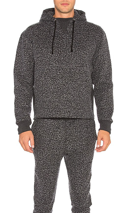 JOHN ELLIOTT Gauze Terry Kake Mock Pullover in Charcoal