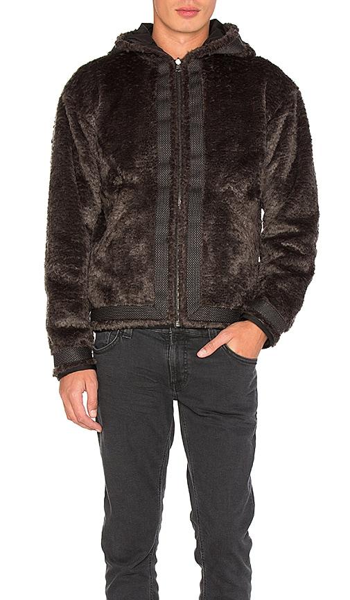 JOHN ELLIOTT Bolivia Reversible Zip Hoodie in Black