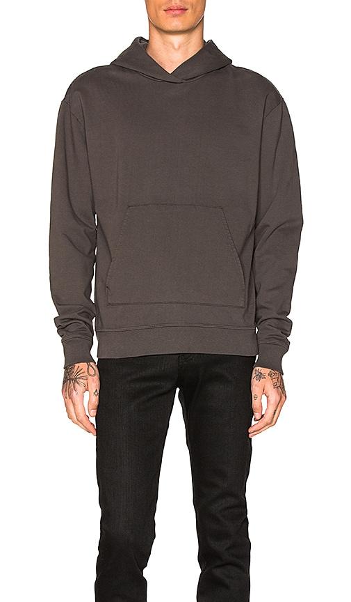 JOHN ELLIOTT Oversized Cropped Hoodie in Charcoal