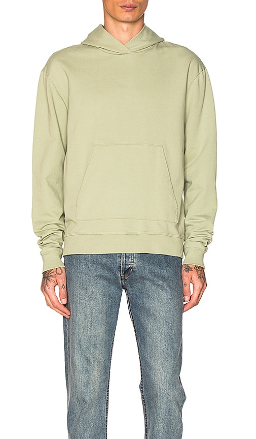 JOHN ELLIOTT Oversized Cropped Hoodie in Sage