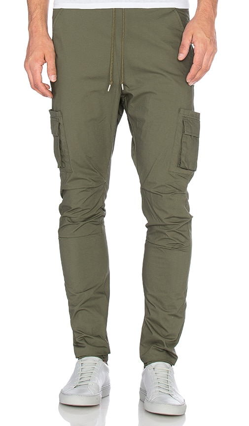 JOHN ELLIOTT Cargo Pants in Olive