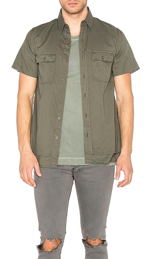 JOHN ELLIOTT 2 Layer Military Shirt in Olive