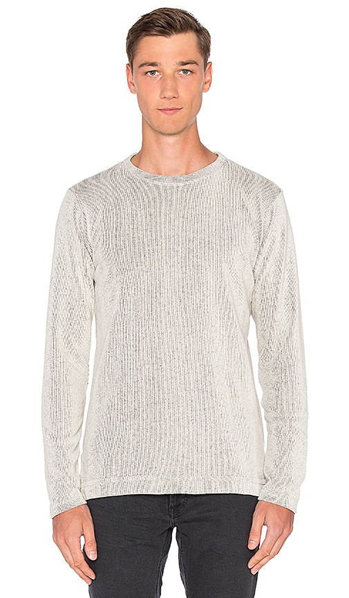 JOHN ELLIOTT Ribbed Mercer Pullover in Light Gray