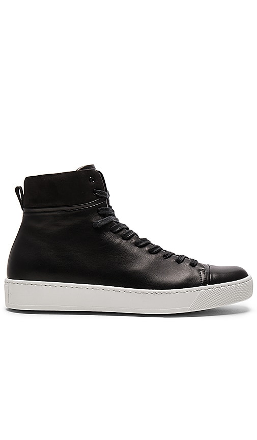 JOHN ELLIOTT Leather High Top in Black
