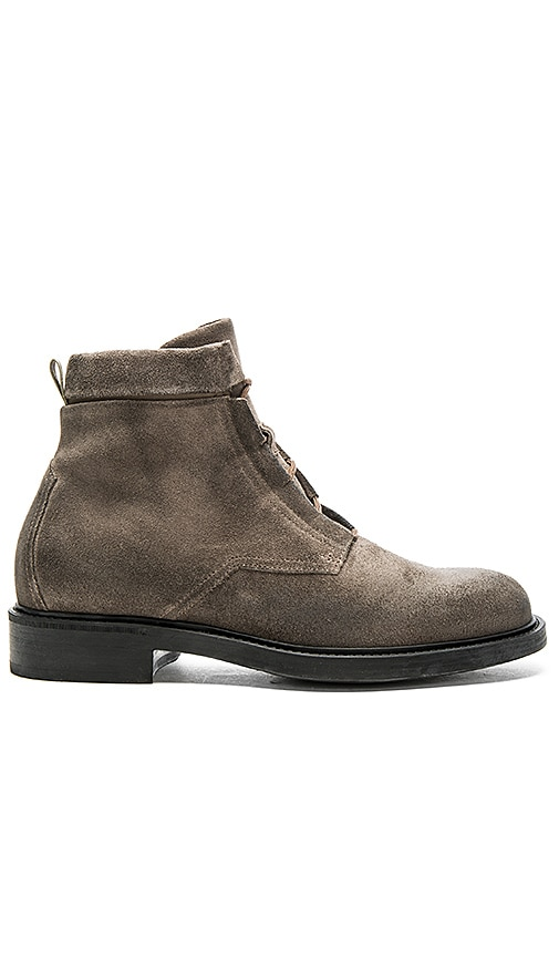 JOHN ELLIOTT Combat Boot in Charcoal