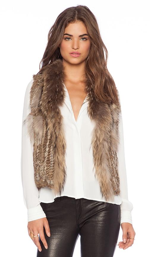 Short Rabbit Fur Gilet Vest