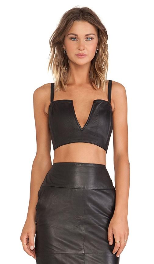 Leather Strapless Bralette