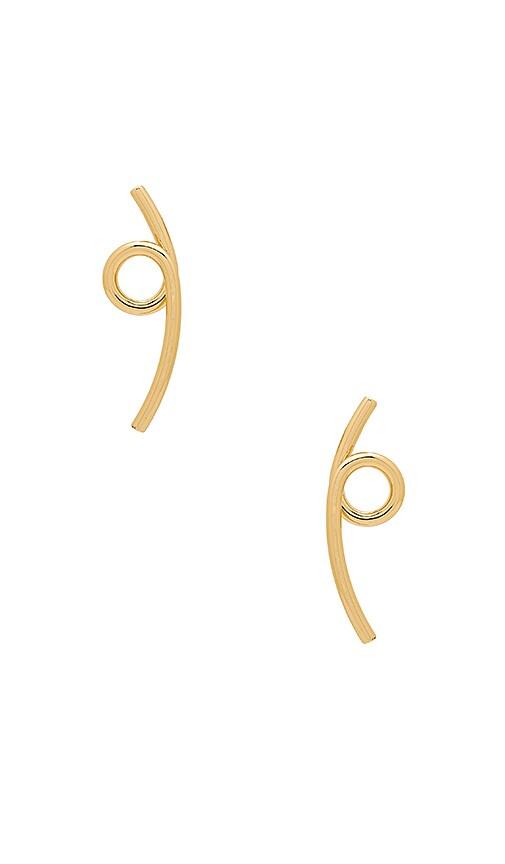 Jenny Bird The Loops Earrings in Metallic Gold