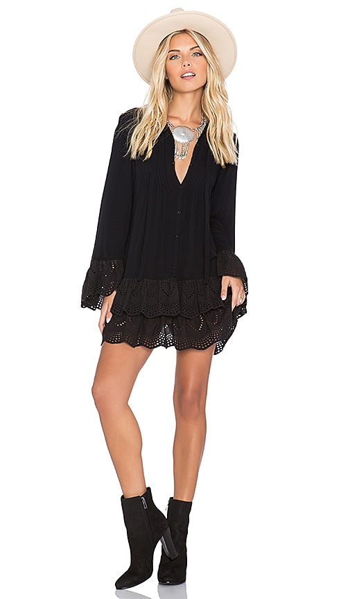 Jen's Pirate Booty Wildflower Mini Dress in Black