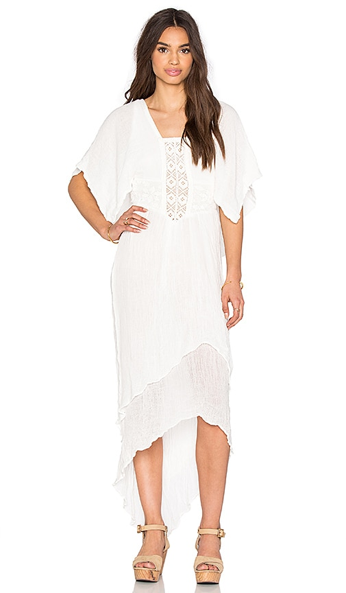 Jen's Pirate Booty Diamond Maxi Dress in White