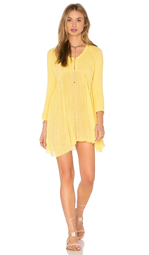 Jen's Pirate Booty Roanoke Tunic Dress in Yellow