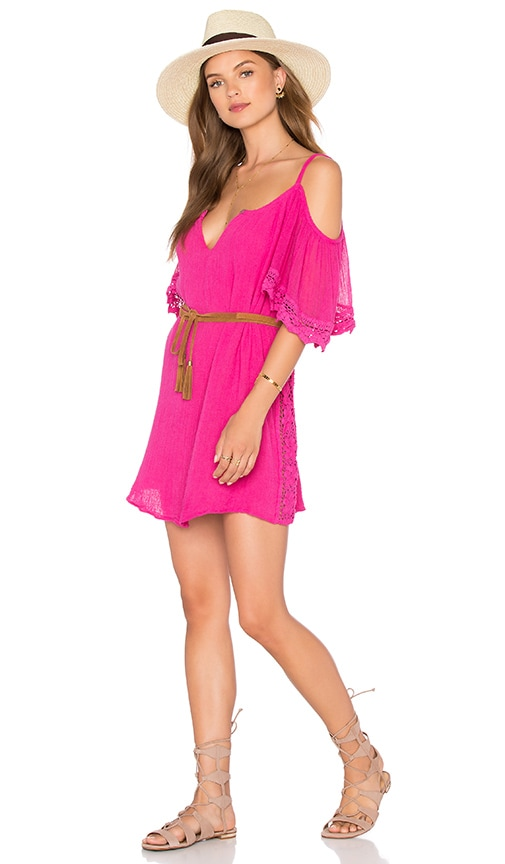 Jen's Pirate Booty O'hara Tunic Dress in Neon Pink