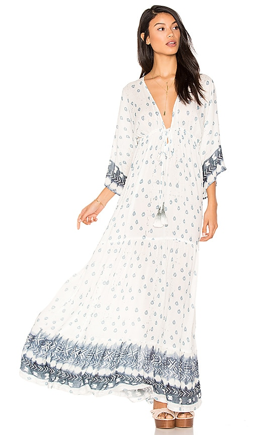 Jen's Pirate Booty Black Orchid Maxi Dress in White
