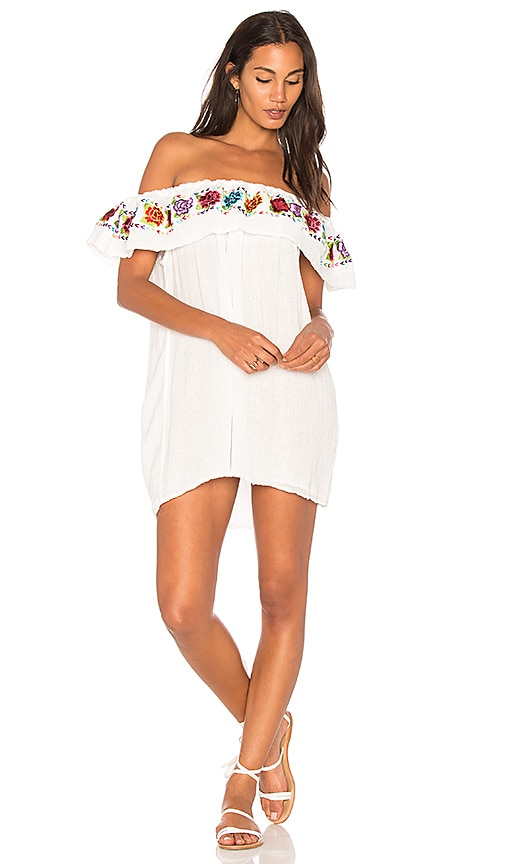 Jen's Pirate Booty Las Rosas Senorita Mini Dress in White