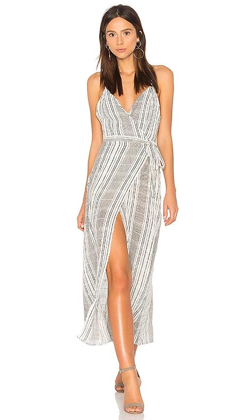 Stripe Jana Wrap Dress