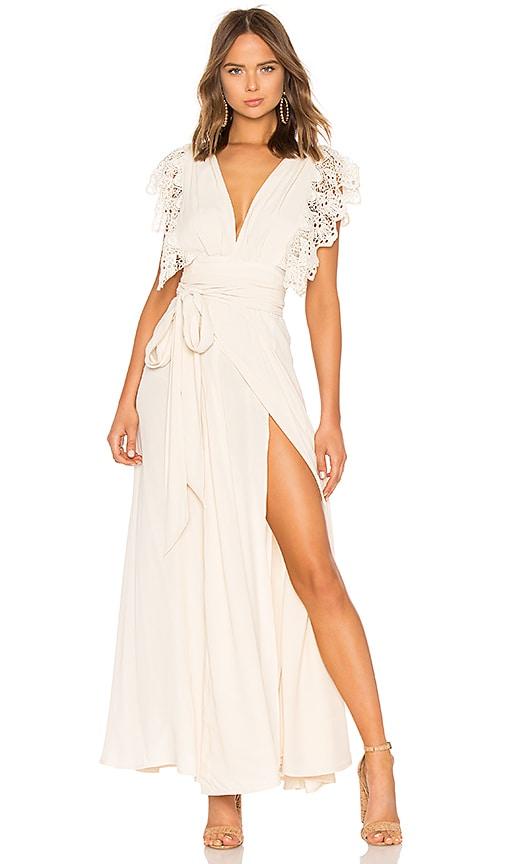 White Poppy Wrap Dress