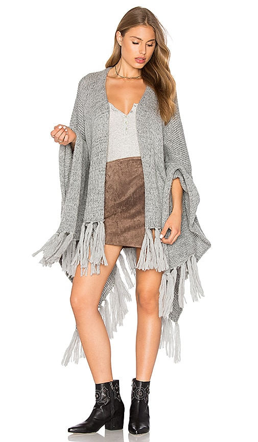 Jen's Pirate Booty Shawl Poncho in Gray