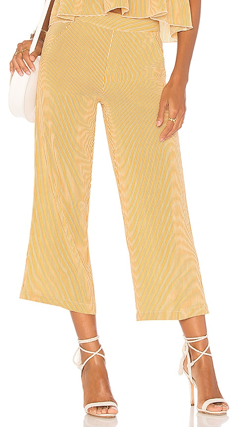 Jen's Pirate Booty Carom Crop Pant in Yellow