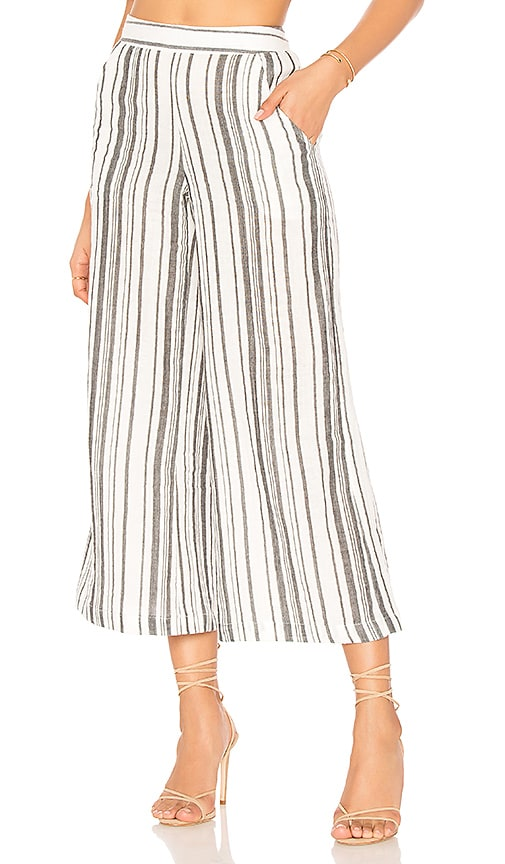 Jen's Pirate Booty Stripe Garam Crop Pant in White