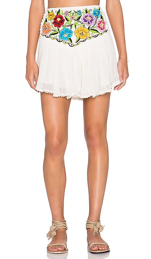 Jen's Pirate Booty Bonita Asteria Mini Skirt in Natural Multi