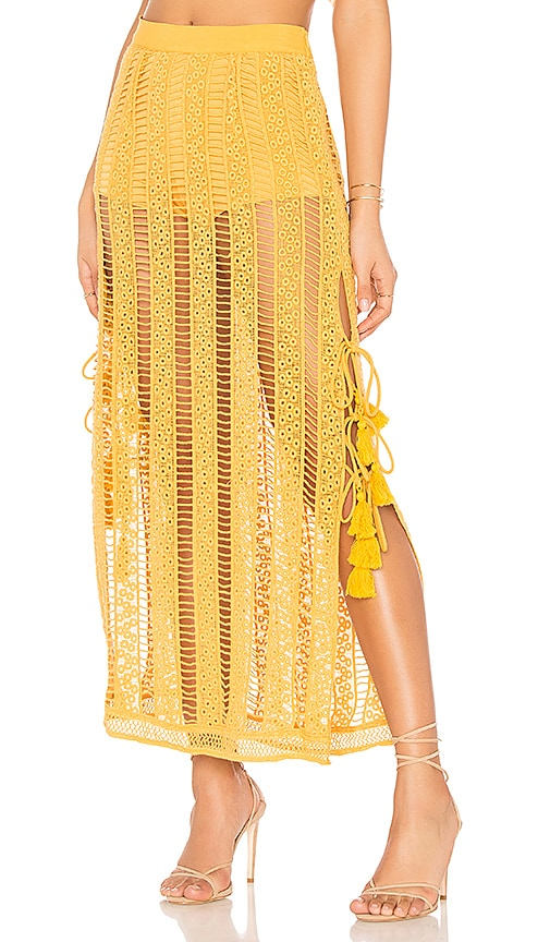 Jen's Pirate Booty Duomo Maxi Skirt in Mustard