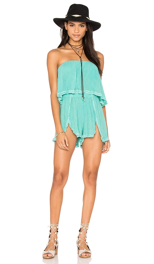 Jen's Pirate Booty Venice Romper in Turquoise