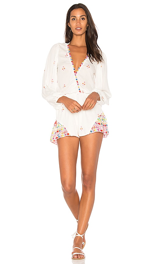 Jen's Pirate Booty Jaguar Romper in White