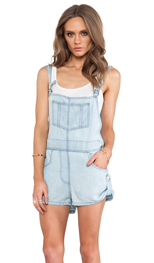 Oleander Cut Off Overalls