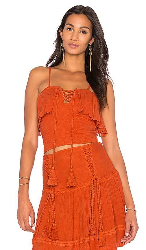 Jen's Pirate Booty Copal Top in Burnt Orange